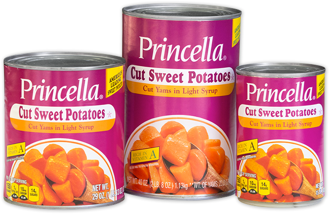 Princella Cut Sweet Potatoes Cans