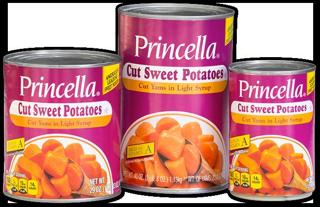 Princella Cut Sweet Potatoes Cans