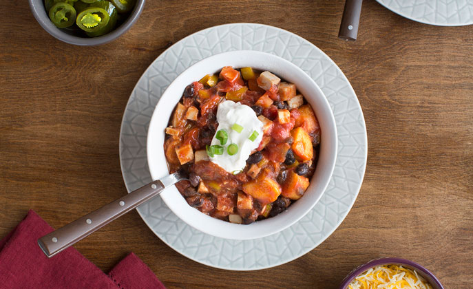 Whether you freeze leftover Thanksgiving turkey for later or use it up right after the holidays, this chili will be a hit anytime.