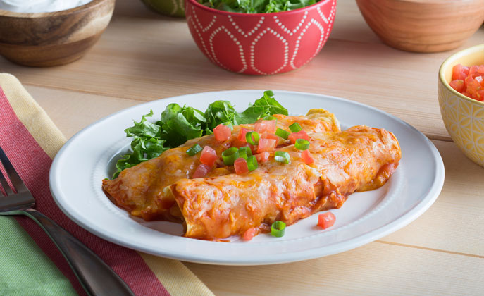 After the holidays, it's fun to kick up the flavor and use leftover turkey with an easy enchilada dinner the whole family with love.