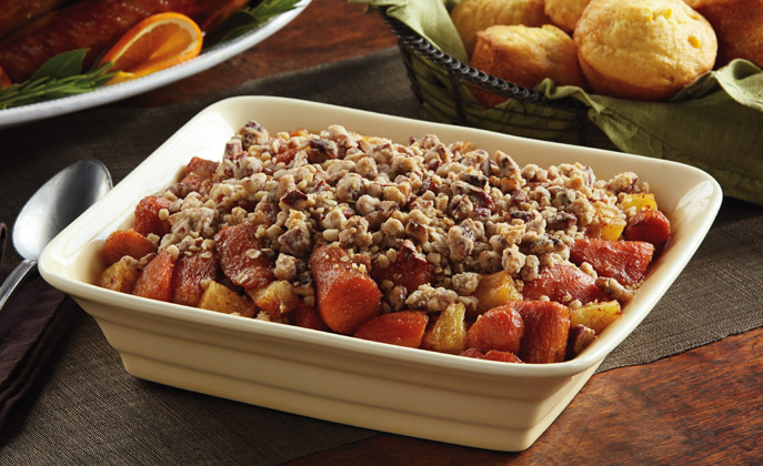 Sweet potatoes, get a flavorful pineapple twist the whole family will love in this traditional holiday dish.