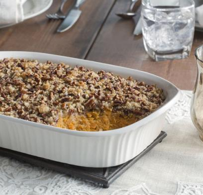 Whether you like your holiday table traditional or with something a little different, this casserole with topping twists is sure to please.