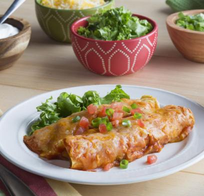 Princella Turkey and Sweet Potato Enchiladas
