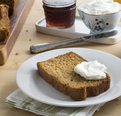 Mashed sweet potatoes give this versatile quick bread extra moistness.  Make two loaves or 24 muffins with a choice of optional stir-ins or toppings. Delicious as is, or with cream cheese or apple butter.